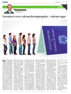 Encontre o erro: Sobram Desempregados / Sobram Vagas