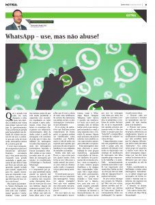 WhatsApp – Use, mas não Abuse!