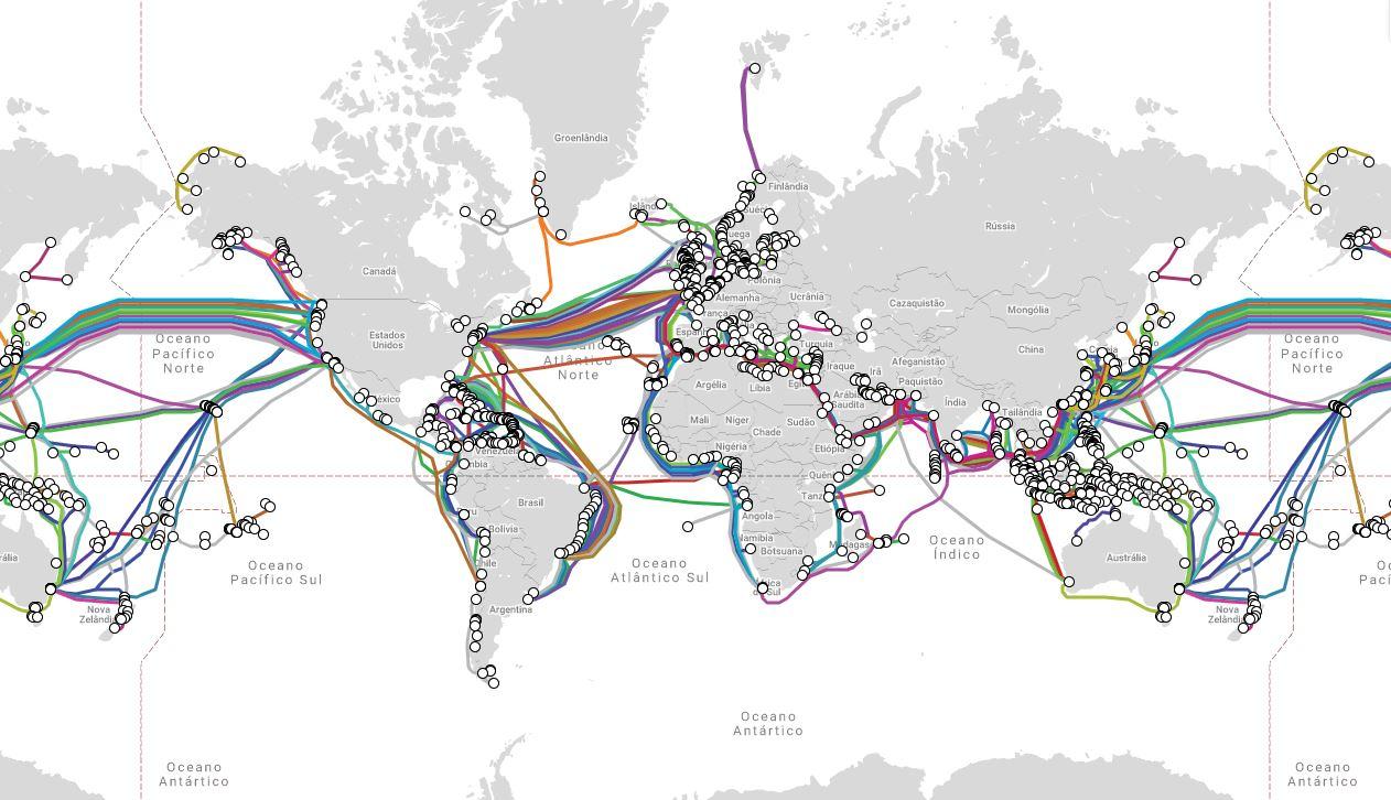 Cabos submarinos mundo