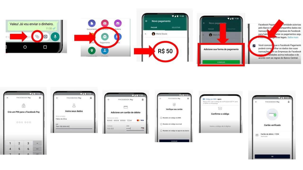 Configuração WhatsApp Pay