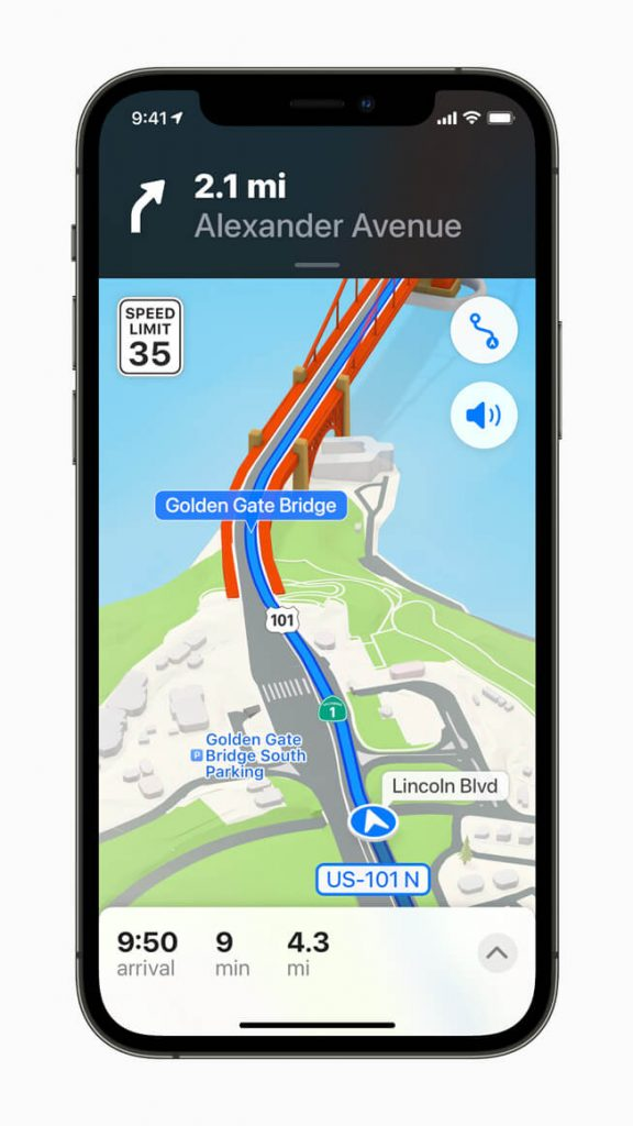 Apple Maps no iOS 15