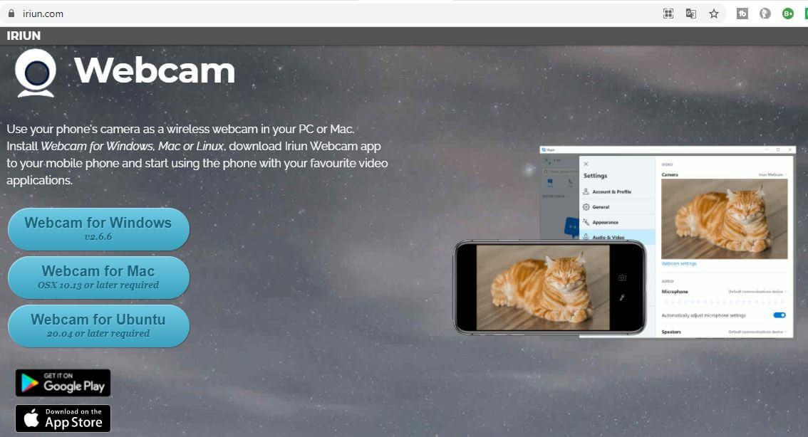 iriun website