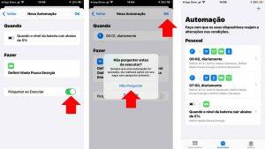 Como criar automação para economizar bateria no iPhone