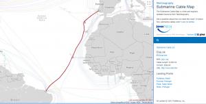 Cabo submarino conecta Brasil à Europa