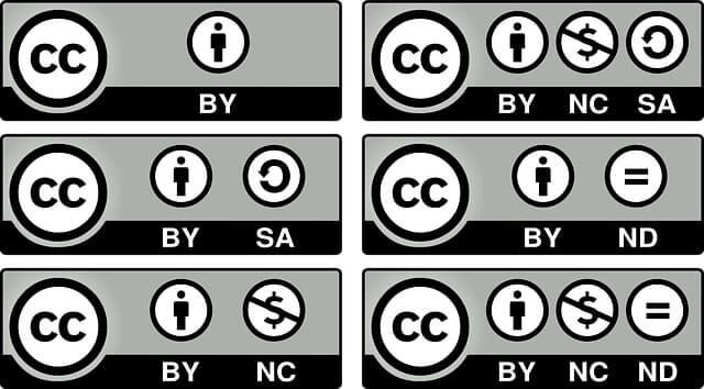 licenças Creative Commons (CC)